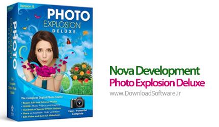 برنامه ایجاد جلوه های ویژه روی تصاویر با Nova Development Photo Explosion Deluxe