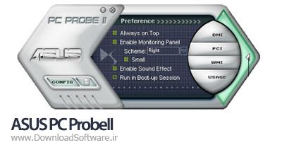 دانلود ASUS PC ProbeII نرمافزار نمایش اطلاعات و وضعیت مادبردهای ایسوس