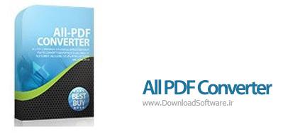 دانلود All PDF Converter نرم افزار مبدل همه فایل های پی دی اف