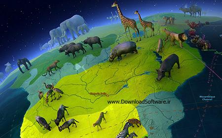 دانلود اسکرین سیور حیوانات مختلف در زمین - Animal World 3D Screensaver 1.1 Build 04