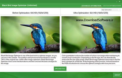 دانلود Black Bird Image Optimizer نرم افزار بهینه ساز تصاویر پرنده سیاه