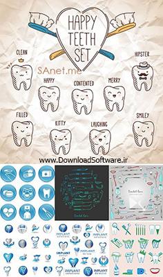 دانلود تصاویر وکتور با موضوع دندانپزشکی