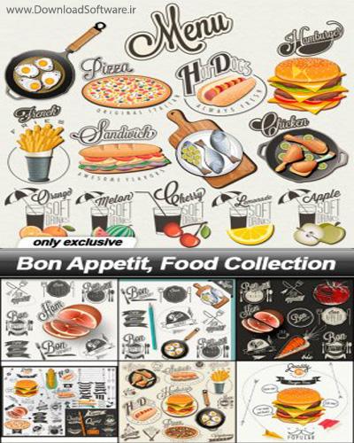 دانلود مجموعه تصاویر وکتور غذایی