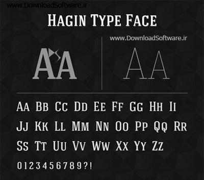 دانلود فونت انگلیسی Hagin Typeface