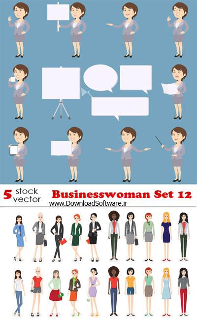 دانلود تصاویر وکتور کسب و کار زنانه