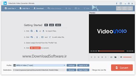دانلود VideoSolo Video Converter Ultimate نرم افزار مبدل ویدیویی