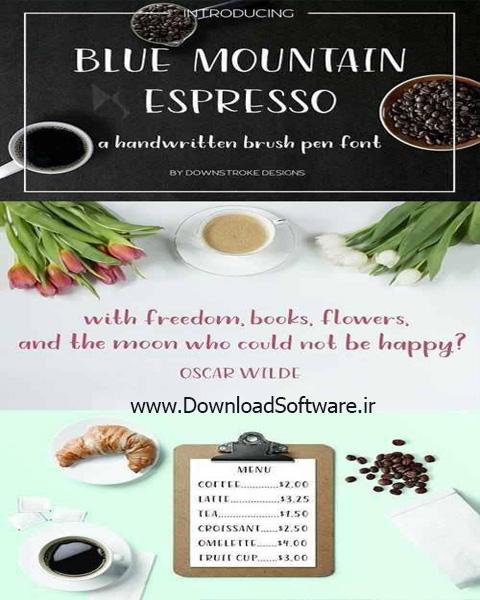 دانلود فوت انگلیسی Blue Mountain Espresso