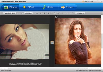 دانلود EasiestSoft Picture to Movie Maker نرم افزار ایجاد اسلاید ویدیویی از تصاویر