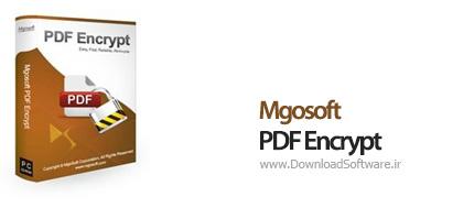 دانلود Mgosoft PDF Encrypt نرم افزار رمزگذاری فایل های PDF