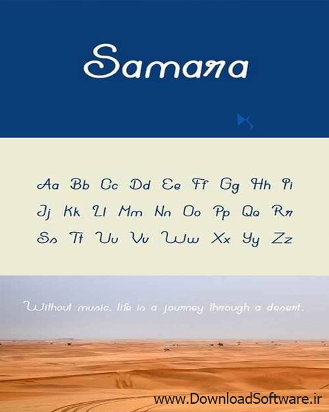 دانلود فونت جدید انگلیسی با نام Samara typeface