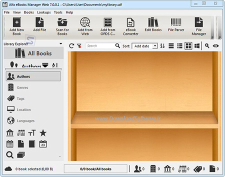 دانلود نرم افزار Alfa eBooks Manager Web - برنامه مدیریت کتاب های الکترونیکی