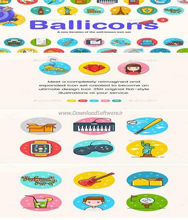 دانلود آیکون های Ballicons 3 Icon Set