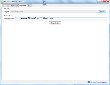 دانلود PDF Password Remover Free نرم افزار حذف پسورد پی دی اف