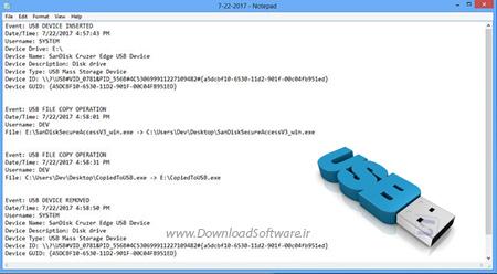 دانلود USB Logger نرم افزار نظارت بر دستگاه های USB