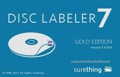 دانلود SureThing Disk Labeler Deluxe Gold نرم افزار ایجاد لیبل دیسک