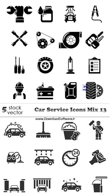 دانلود 5 تصویر آیکون وکتور از سرویس ماشین