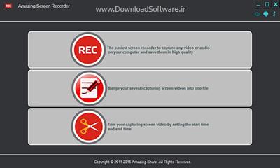 دانلود Amazing Screen Recorder نرم افزار ضبط صفحه نمایش