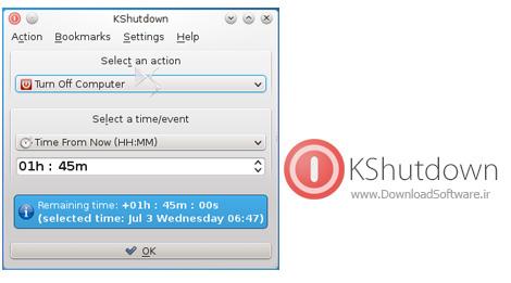 دانلود KShutdown – نرم افزار خاموش کردن خودکار کامپیوتر