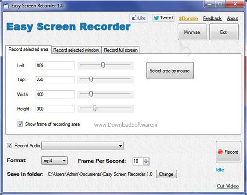 دانلود Tomatosoft Easy Screen Recorder + Portable نرم افزار ضبط صفحه نمایش ویندوز