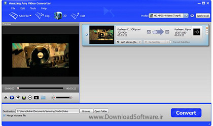 دانلود Amazing Any Video Converter + Portable نرم افزار مبدل ویدیویی