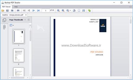 دانلود نرم افزار Bullzip PDF Studio مشاهده کتاب الکترونیکی Pdf
