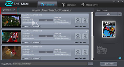 دانلود Dimo DVDmate - نرم افزار تبدیل فایل های دی وی دی ها