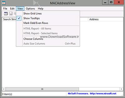 دانلود MACAddressView نرم افزار نمایش مک آدرس