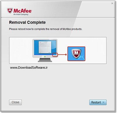 دانلود McAfee Removal Tool (mcpr) نرم افزار حذف محصولات مکافی