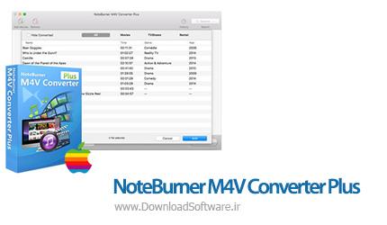 دانلود NoteBurner M4V Converter Plus - نرم افزار حذف DRM از فایل های ویدئویی