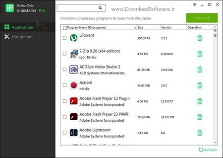 دانلود DoYourData Uninstaller Pro - نرم افزار حذف آسان برنامه ها در کامپیوتر