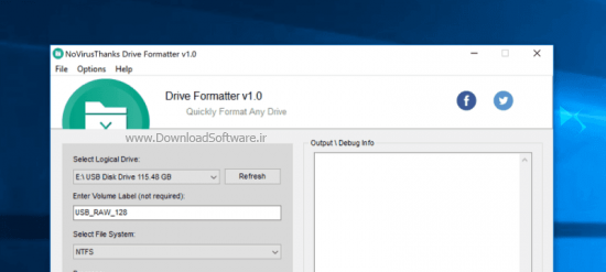دانلود Drive Formatter نرم افزار فرمت درایورهای ویندوز