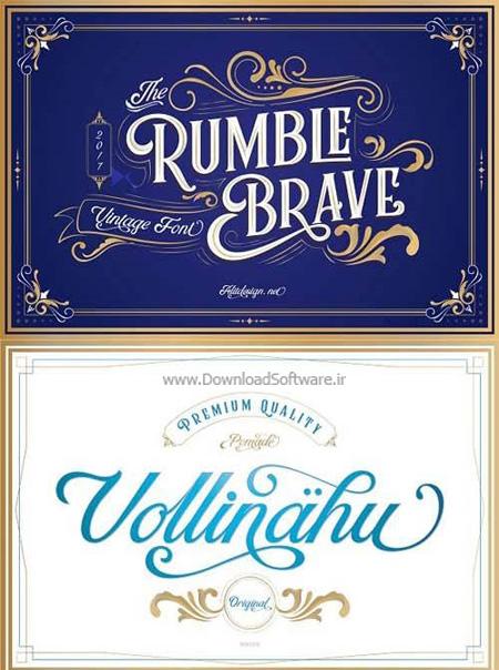 دانلود فونت انگلیسی Rumble Brave Typeface
