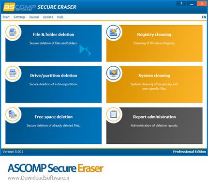 دانلود ASCOMP Secure Eraser Pro Edition