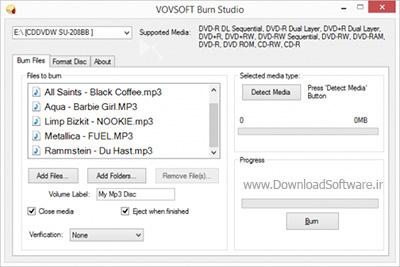 دانلود VOVSOFT Burn Studio نرم افزار رایت آسان دیسک ها