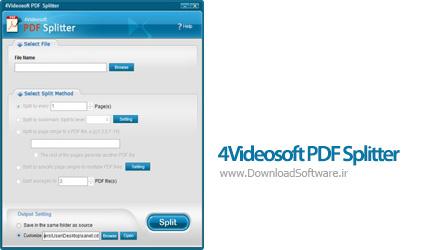 دانلود 4Videosoft PDF Splitter نرم افزار تقسیم فایل های پی دی اف