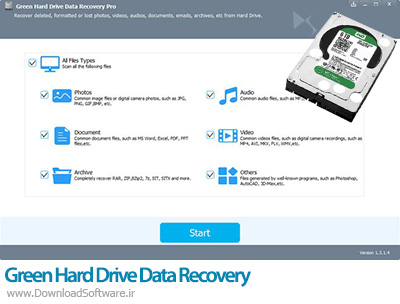 دانلود Green Hard Drive Data Recovery Pro