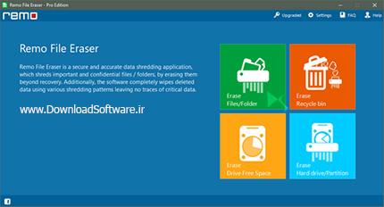 دانلود Remo File Eraser Pro Edition - نرم افزار پاکسازی فایل ها