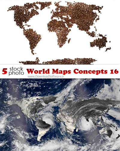 دانلود تصاویر مفهومی نقشه های جهان