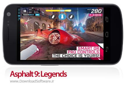 دانلود Asphalt 9 Legends - بازی ماشین مسابقه ای asphalt 9 برای اندروید