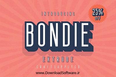 دانلود فونت انگلیسی Bondie Extrude Font Family