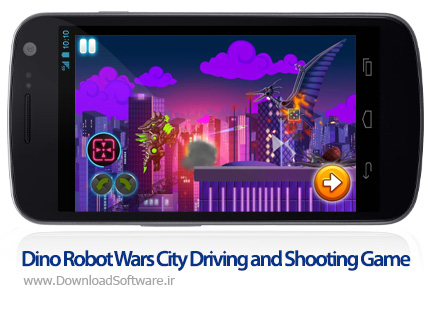 دانلود Dino Robot Wars: City Driving and Shooting Game