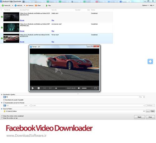 دانلود Facebook Video Downloader