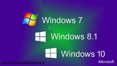 دانلود پکیج کامل ویندوزها Windows 7-8-1-10