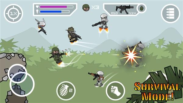 آخرین نسخه بازی جدید Doodle Army 2 : Mini Militia
