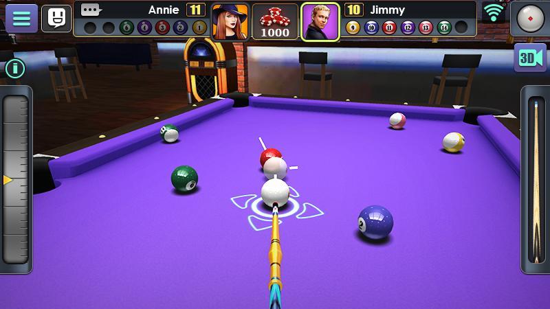 بازی رایگان اندروید 3D Pool Ball