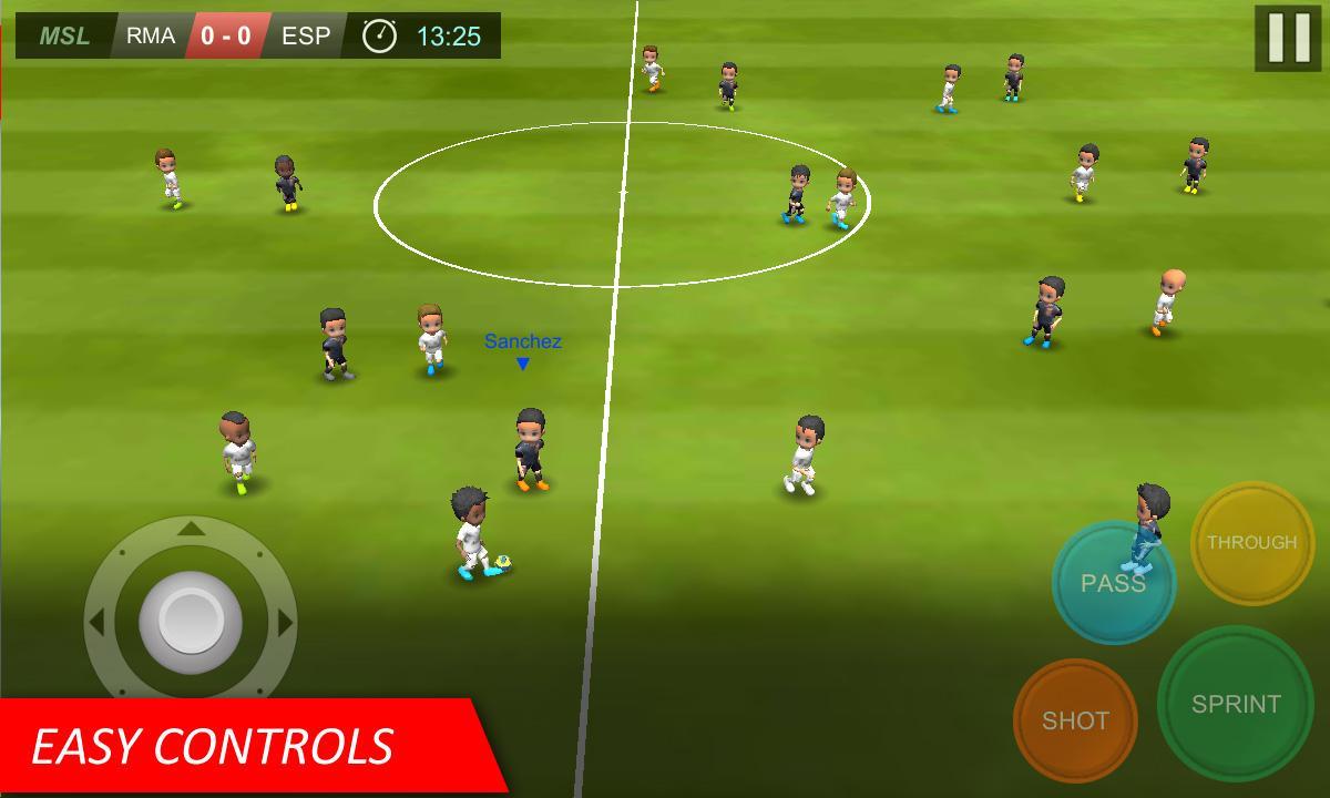 بازی اندروید فوتبالی Mobile Soccer League