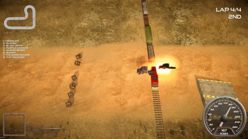 دانلود بازی جدید کامپیوتری Rock n Rush Battle Racing