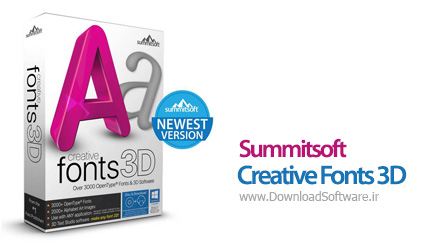 دانلود Summitsoft Creative Fonts 3D