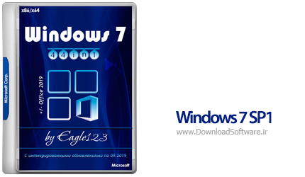 دانلود Windows 7 SP1 44in1 x86/x64 +/- Office 2019 - September 2019