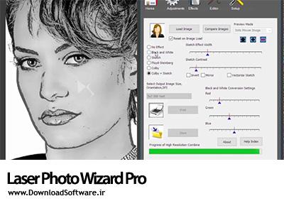 دانلود برنامه Laser Photo Wizard Pro نرم افزار آماده سازی عکس برای حکاکی و لیزر